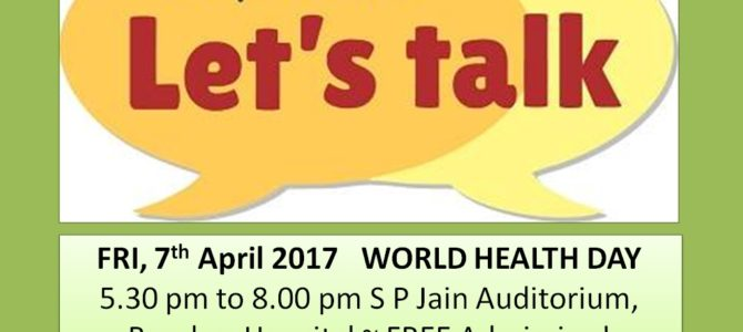 Depression~ Let's Talk on World Health Day