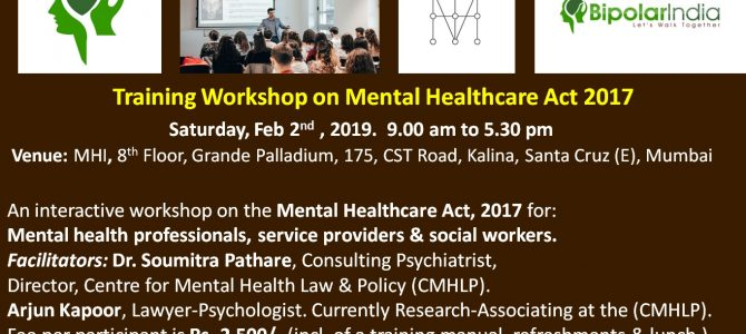 Training Workshop on The Mental Healthcare Act, 2017